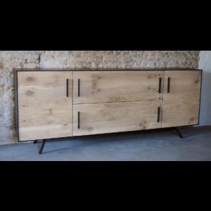 Credenza D001   Dresser, Reclaimed oak combined with steel
