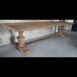 Refectory table made of 4,5 - 5 cm sunburned reclaimed oak Z003