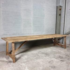 Sunburned reclaimed oak Refectory table Rothenburg 4cm thick - Z007