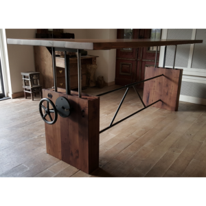 Height adjustable crank table black walnut - DT07