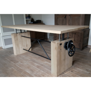 Oak table - height adjustable DT14