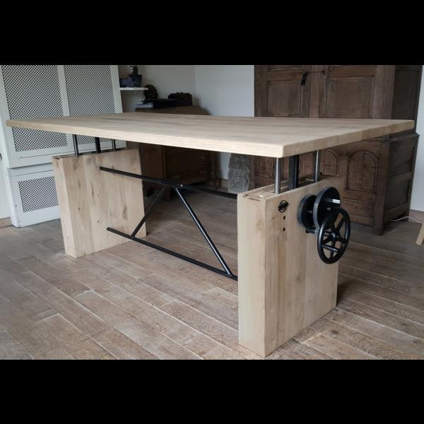 Oak table - height adjustable DT14