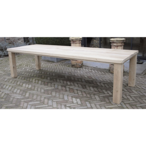 Block leg table oak G006