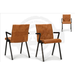 Industrial design chair Square - with arm rests S010