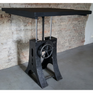Industrial adjustable in height crank table DT23