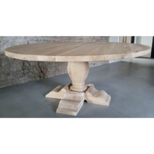 Round oak refectory table G020