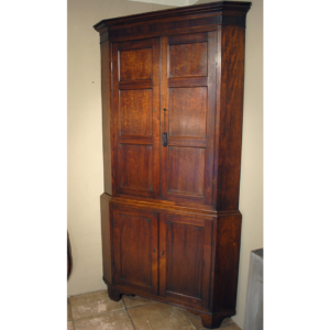 Antique corner cupboard A-H001