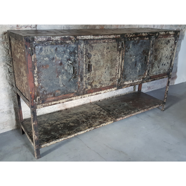 Industrial vintage steel cupboard IND649