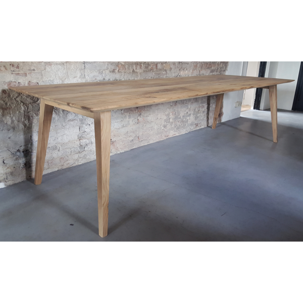 Retro table Nordic reclaimed oak and steel - H007