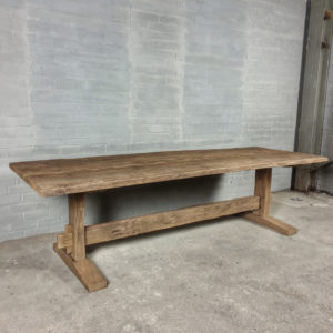 Sunburned reclaimed oak Refectory table Munster - Z008