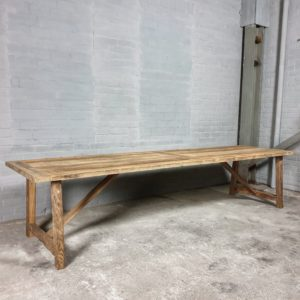 Sunburned reclaimed oak Refectory table Rothenburg 4cm thick - Z007