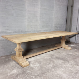 Rustic oak Refectory table - 4cm thick - H005