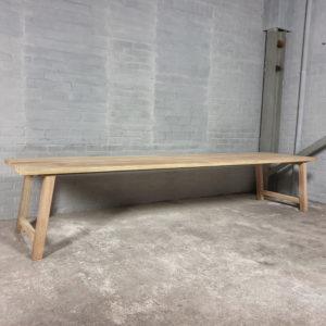 Garden table Bato | outdoor table in iroko hardwood - T02