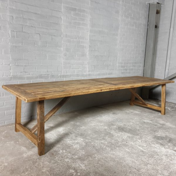 Reclaimed oak Refectory table - Rothenburg - country style - H010