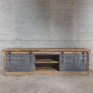 industrial-design-TV-cabinet-old-oak-and-steel