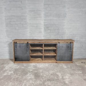 Vintage dresser from steel and oakwood