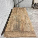 oak dining table – iron table legs – TOP046-01