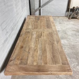oak dining table - iron table legs - TOP048-1